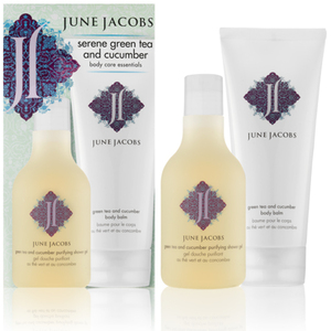 Serene Green Tea and Cucumber Body Care Essentials Kit (225-918) by June Jacobs Spa Collection