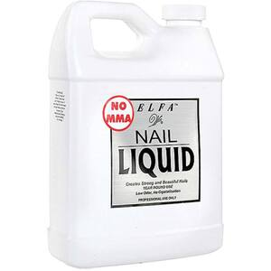 Elfa No MMA Acrylic Nail Liquid Monomer - Low Odor - Superior Strength - 32 oz. (946.37 mL.) (110015)