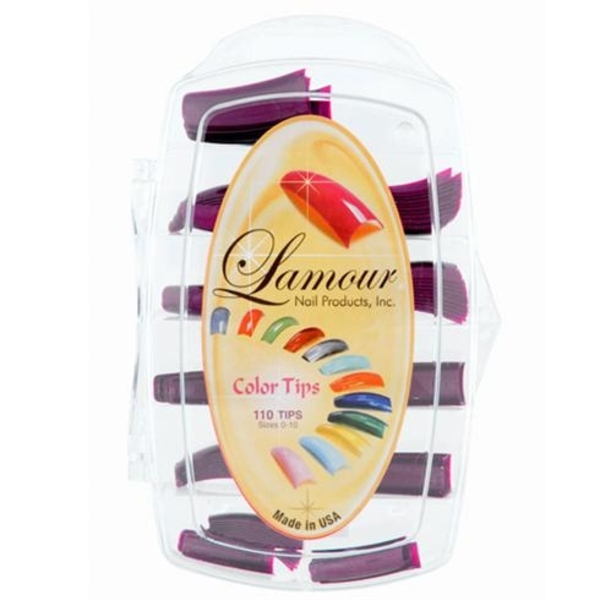 Lamour Colored Nail Tip # L-42 Box of 110 (110305)