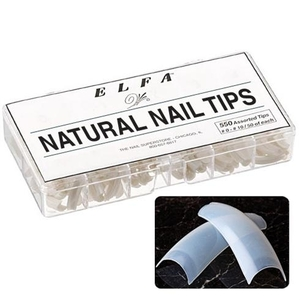 All Size Natural Nail Tips Box of 550 (110314)