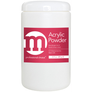 M Professional Choice - Acrylic Nail Powder - White Color 24 oz. (680.38 grams) (118003)