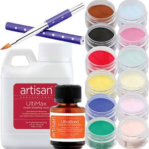 Artisan Acrylic Nail Kit - 15 pcs Best Selling Color Powders - Kit (119064)