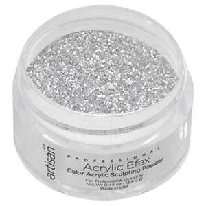 Color Acrylic Powder Pro Size - Silver Shimmer - 1 oz. 28.35 Grams (119195)