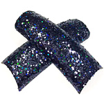 Artisan Sparkle Glitter Nail Tips - Her Black Diamond 100 Pieces (119550)