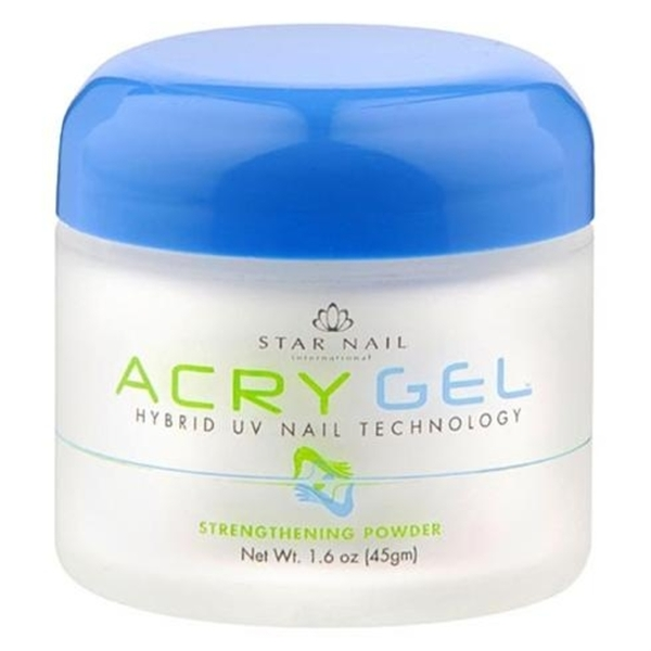 StarNail AcryGel Nail Powder - Clear 1.6 oz. (120031)