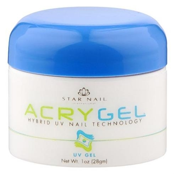 StarNail AcryGel Gel Nail - White 1 oz. (120035)