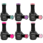 Artisan GelEfex Gel Nail Polish 6 Pieces - Advanced Formula - Sugar Fantasy Collection - 6 x 0.5 oz (128601)