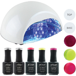 Artisan GelEfex Advanced Formula Gel Nail Polish Kit & ProMaster CCFLLED Gel Nail Light - IÕm Too Haute to Care (129023)