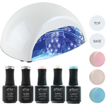 Artisan GelEfex Advanced Formula Gel Nail Polish Kit & ProMaster CCFLLED Gel Nail Light - Pantone Paradise (129025)