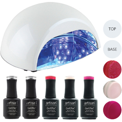 Artisan GelEfex Advanced Formula Gel Nail Polish Kit & ProMaster CCFLLED Gel Nail Light - Martinis at the Ritz (129026)