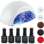 Artisan GelEfex Advanced Formula Gel Nail Polish Kit & ProMaster CCFLLED Gel Nail Light - Runway Couture (129027)