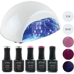 Artisan GelEfex Advanced Formula Gel Nail Polish Kit & ProMaster CCFLLED Gel Nail Light - Weekend Affair (129028)