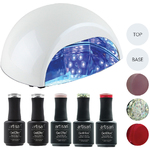 Artisan GelEfex Advanced Formula Gel Nail Polish Kit & ProMaster CCFLLED Gel Nail Light - Party Princess (129029)