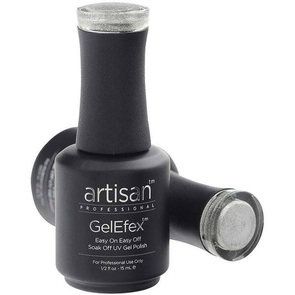 Artisan GelEfex Gel Nail Polish - Advanced Formula - Spangled Silver - 0.5 oz (15 mL.) (129829)