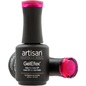 Artisan GelEfex Magnetic Cat Eye Gel Nail Polish - Pink Lotus Gem - 0.5 oz (14.79 ml) (129976)