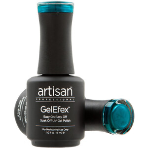 Artisan GelEfex Magnetic Cat Eye Gel Nail Polish - Sea Blue Topaz - 0.5 oz (14.79 ml) (129978)