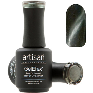 Artisan GelEfex Magnetic Cat Eye Gel Nail Polish - Silver Veil - 0.5 oz (14.79 ml) (129987)