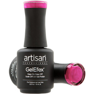Artisan GelEfex Magnetic Cat Eye Gel Nail Polish - Mystical Pink Red - 0.5 oz (14.79 ml) (129990)