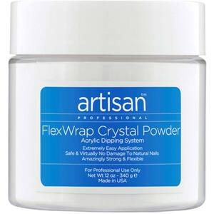 Artisan FlexWrap Crystal Clear Acrylic Dipping Powder - Innovative Non Yellowing Powder - 12 oz. (340.19 grams) (139001)
