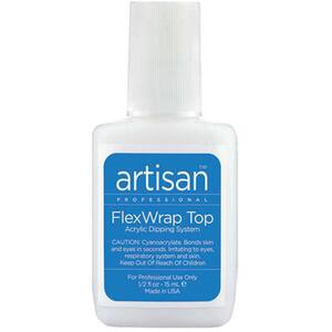 Artisan FlexWrap Finish Resin - Strong Adhesive but Gentle On Natural Nails - 0.5 oz. (14.79 mL.) (139003)