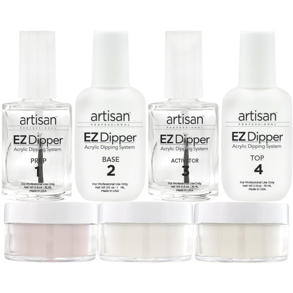EZ Dipper Acrylic Nail Dipping System Kit - Stronger - Thinner ...