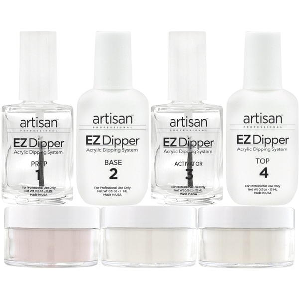 Artisan EZ Dipper Acrylic Nail Dipping System Kit - Stronger - Thinner - Natural Dipped Nails - Set (139072)