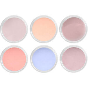 Artisan EZ Dipper Colored Acrylic Nail Dipping Powder - Send Me Nudes Collection - Set of 6 x 0.5 oz (139207)
