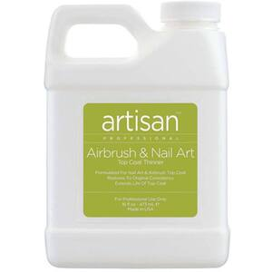Artisan Airbrush & Nail Art Top Coat Thinner - Quickly Thin Out - Restore - Refill Size - 16 oz (473 mL.) (229001)
