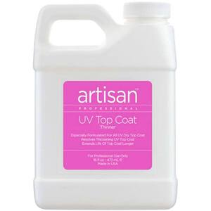 Artisan UV Nail Top Coat Thinner - Quickly Thin Out - Restore - Refill Size - 16 oz (473 mL.) (229002)