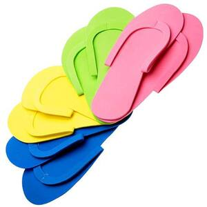 Sewed Pedicure Slippers - Mixed Colors - Premium Quality - Reusable Case of 216 Pairs (320149)