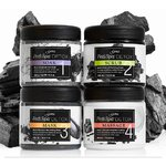 Professional Gena Spa Pedicure Starter Kit - Detox Black Charcoal - 4 Pieces (320169)