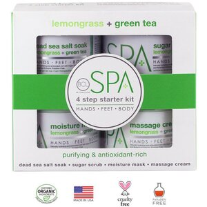 Professional BCL Spa Starter Kit - For Body Hands Feet - Lemongrass & Green Tea - 4 Pieces (320300)