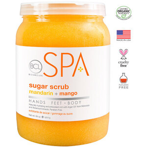 BCL Spa Pedicure Scrub - Mandarin & Mango 64 oz. (320307)