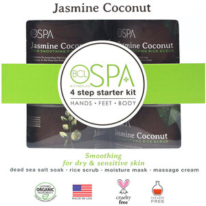 Professional BCL Spa Starter Kit - For Body Hands Feet - Jasmine & Coconut - 4 Pieces (320310)