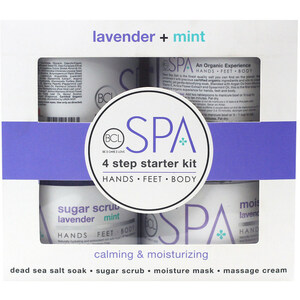 Professional BCL Spa Starter Kit - For Body Hands Feet - Lavender & Mint - 4 Pieces (320315)