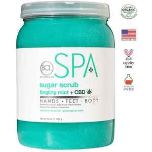 BCL Spa Pedicure Scrub - Tingling Mint & CBD 64 oz. (320322)