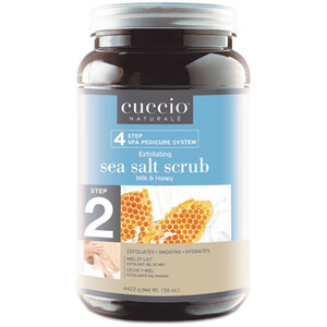 STEP 2 - Cuccio Exfoliating Pedicure Sea Salt Foot Scrub - Milk & Honey - 1 Gallon (3.79L) (340061)