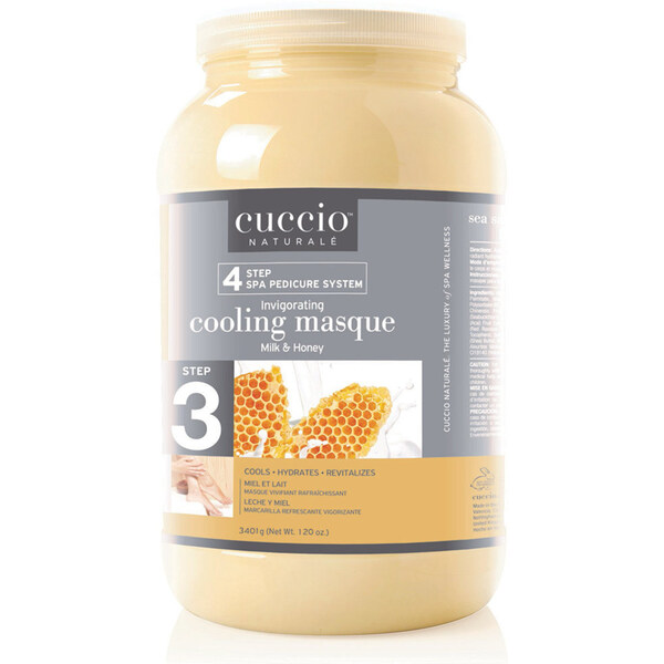 STEP 3 - Cuccio Invigorating Pedicure Foot Mask - Milk & Honey - 1 Gallon (3.79L) (340064)