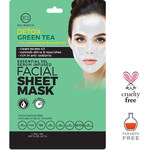 BCL Detox Green Tea Face Mask Sheet - Control Shine & Oily Skin  Pack of 6 (340302)