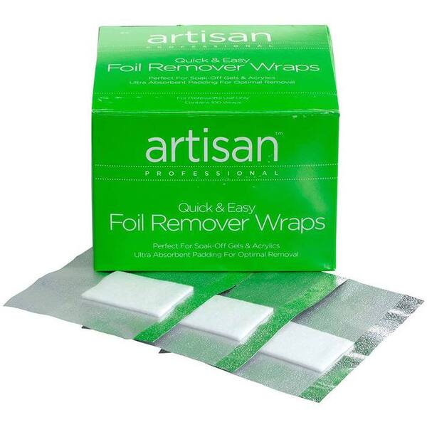 Artisan Nail Foil Remover Wraps - Thicker - Bigger - Stronger Absorbent - 100 Pieces (350015)