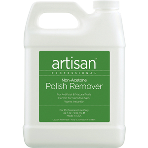 Artisan Non-Acetone Nail Polish Remover - 100% Acetone Free - Value Size - 32 oz (946.37 mL.) (359005)