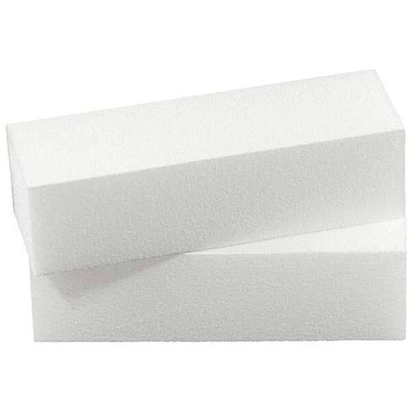 White 4 Way UK Nail Buffing Block (410010)