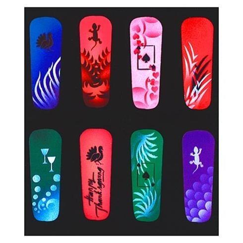 American Airbrush Nail Art Stencil 11 510042