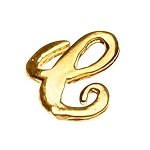"Gold Nail Charms - ""C"" Character Pack 20-Count (520003)"
