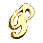 "Gold Nail Charms - ""P"" Character Pack 20-Count (520016)"