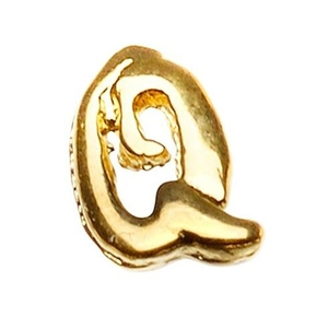 "Gold Nail Charms - ""Q"" Character Pack 20-Count (520017)"