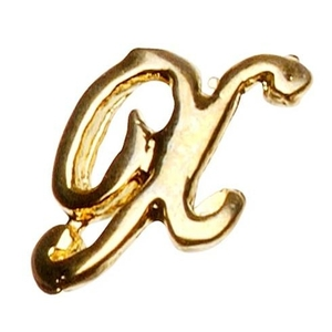 "Gold Nail Charms - ""Y"" Character Pack 20-Count (520025)"