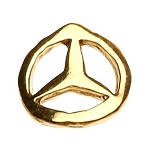 "Gold Nail Charms - ""Mercedes"" Logo Pack 20-Count (520064)"
