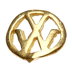 "Gold Nail Charms - ""VW"" Logo Pack 20-Count (520065)"