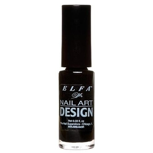 Nail Art Design - Black - 0.25 oz. 7.39 mL. (520077)